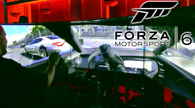 Forza Motorsport 6 – Hot Lap on $100,000 E3 Rig
