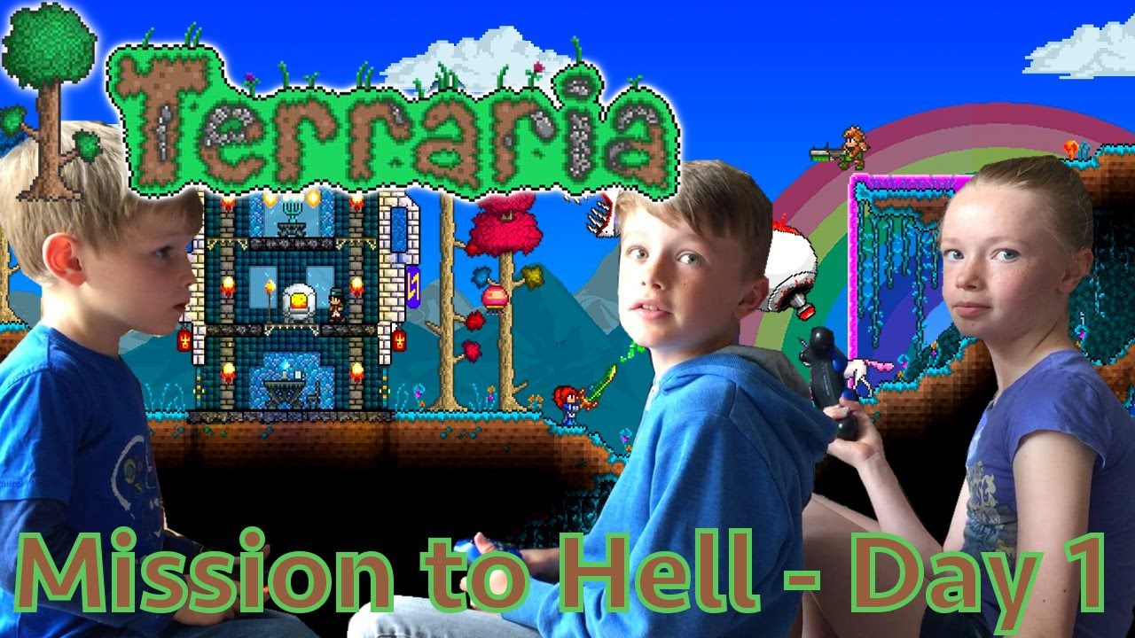 Kids Play Terraria Part 1 – Mission to Hell