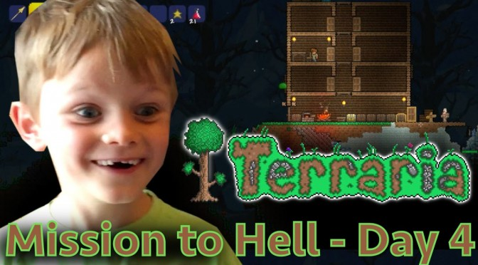 Kids Play Terraria Part 4 – Going for Ore