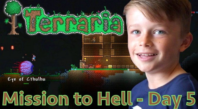 Kids Play Terraria Part 5 – Taking On Eye of Cthulhu