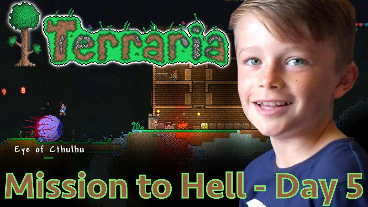 Kids Play Terraria Part 5 – Taking On Eye of Cthulhu
