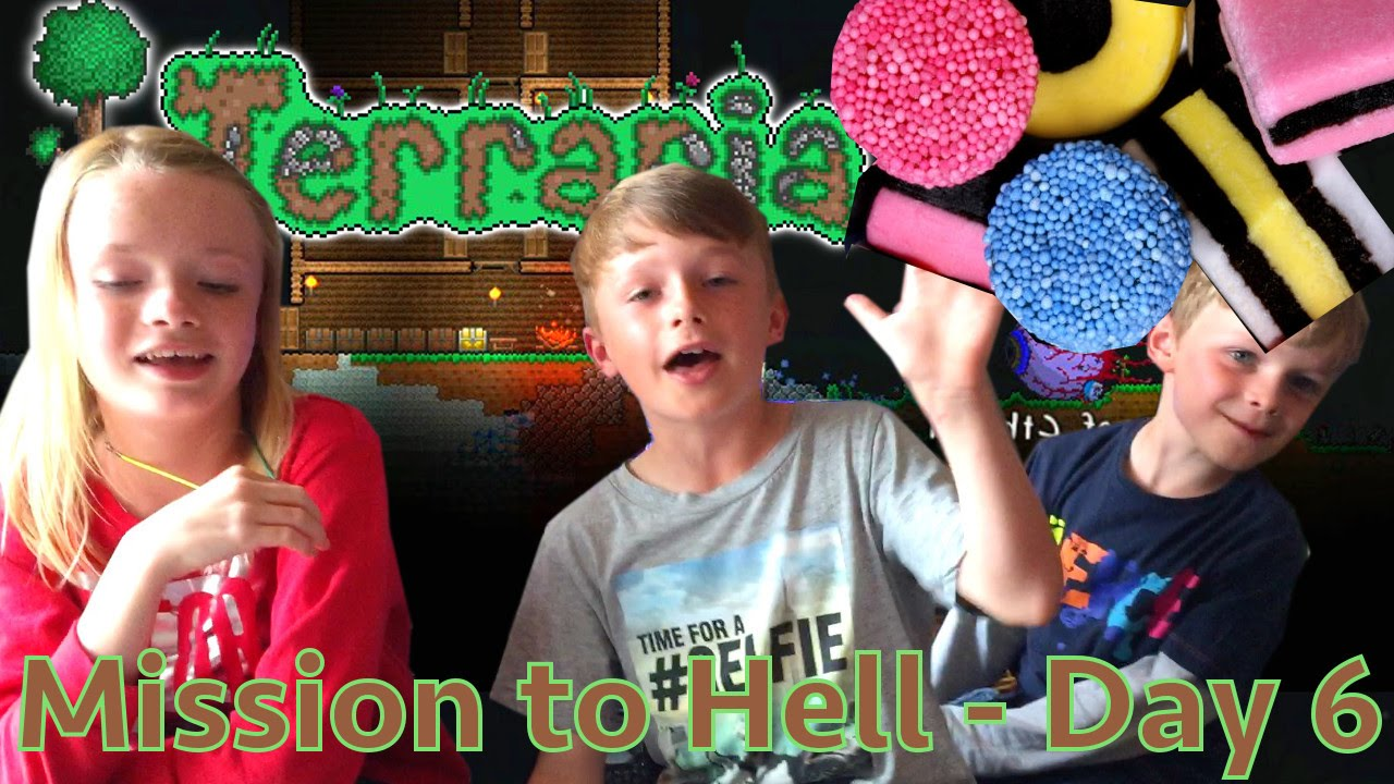 Kids Play Terraria Part 6 – Sweet Surprise Results!