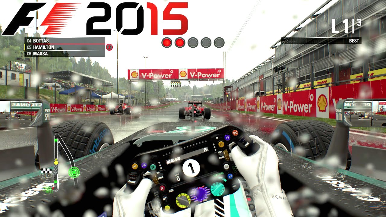 Let's Play F1 2015 – Spa in the Rain with Hamilton (PC Capture HD 1080p 60FPS)