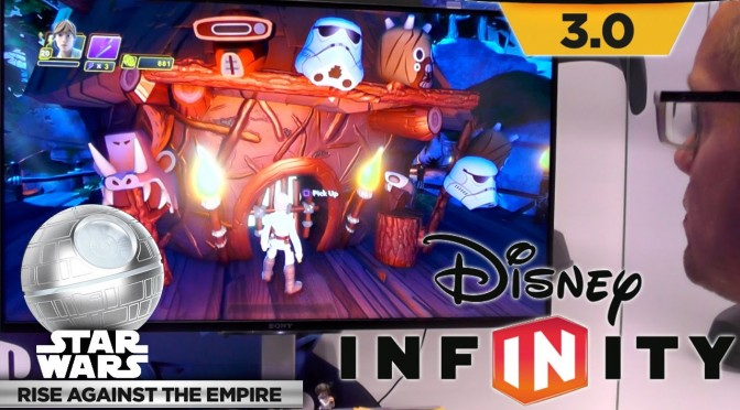Dads Play Disney Infinity Star Wars – Ewok Storm Trooper Spying