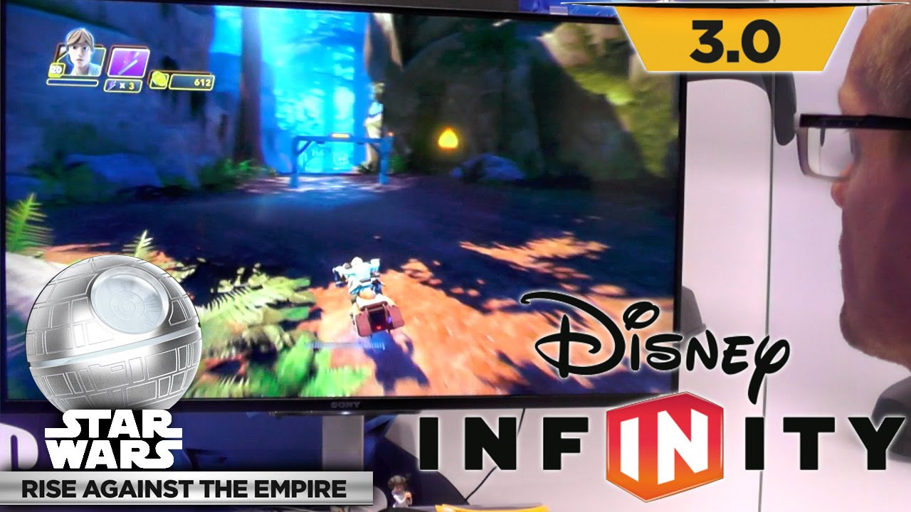 Let's Play Disney Infinity Star Wars – Speeder Bike Racing Through Endor