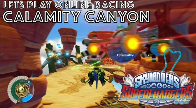 Let's Play Skylanders Kart Racing – Calamity Canyon Game-Play