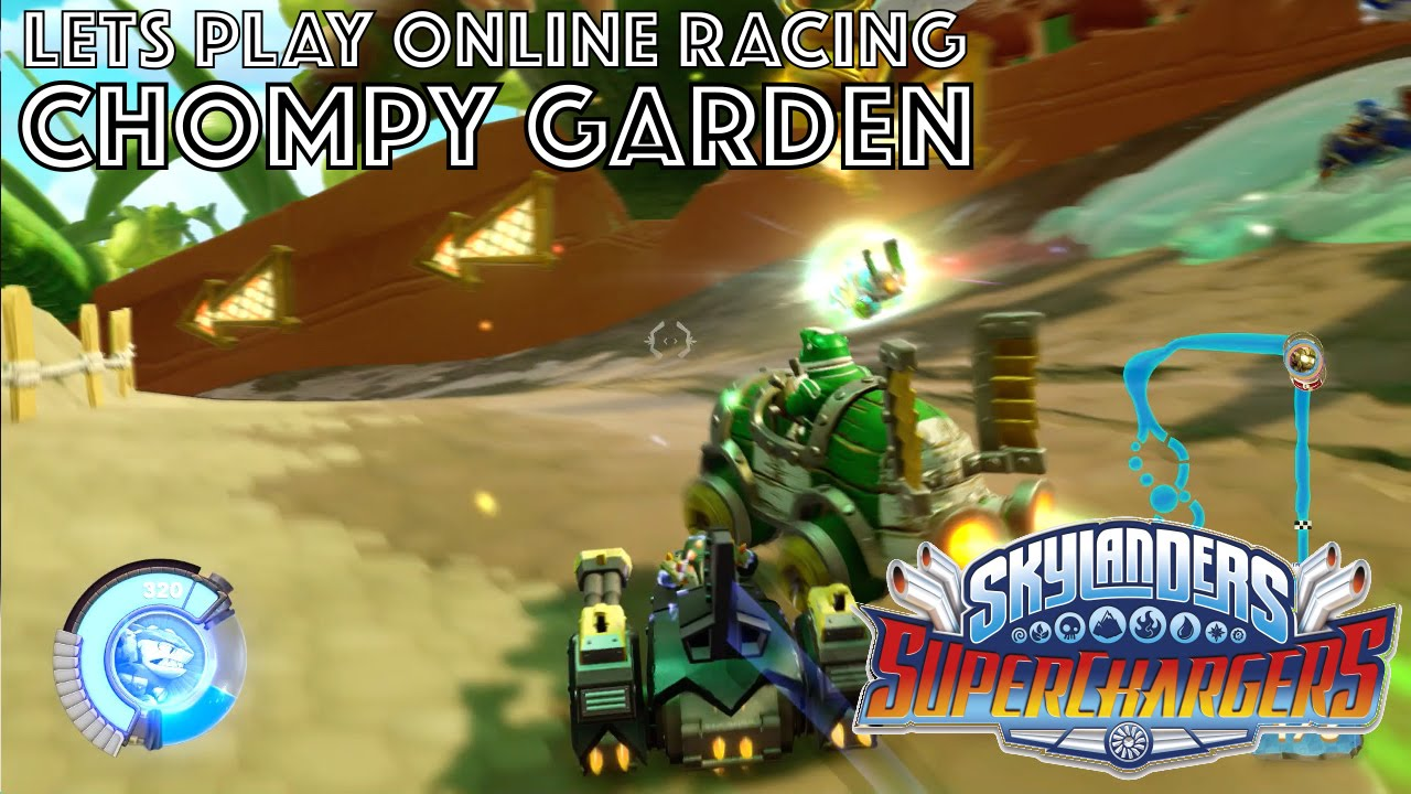 Let's Play Skylanders Kart Racing – Chompy Garden Game-Play