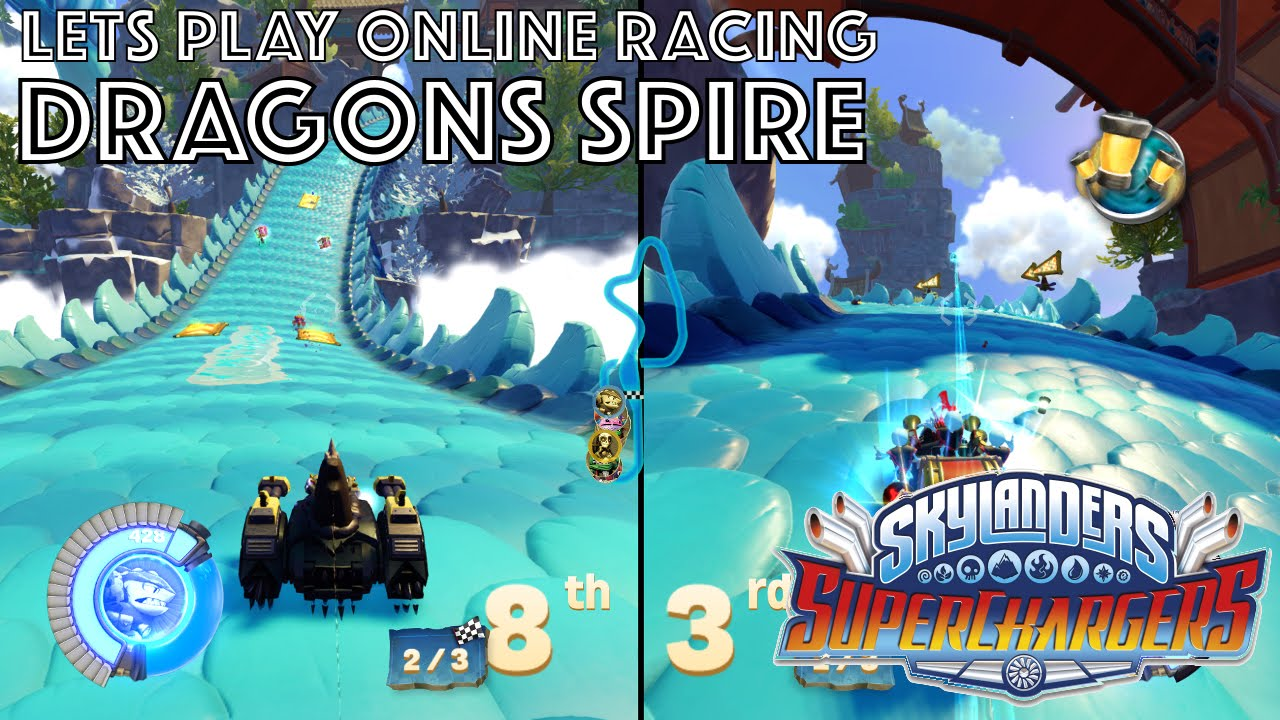 Let's Play Skylanders Kart Racing – Dragon Spire Game-Play