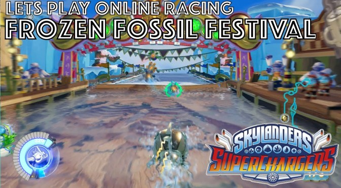 Let's Play Skylanders Kart Racing – Frozen Fossil Festival Game-Play