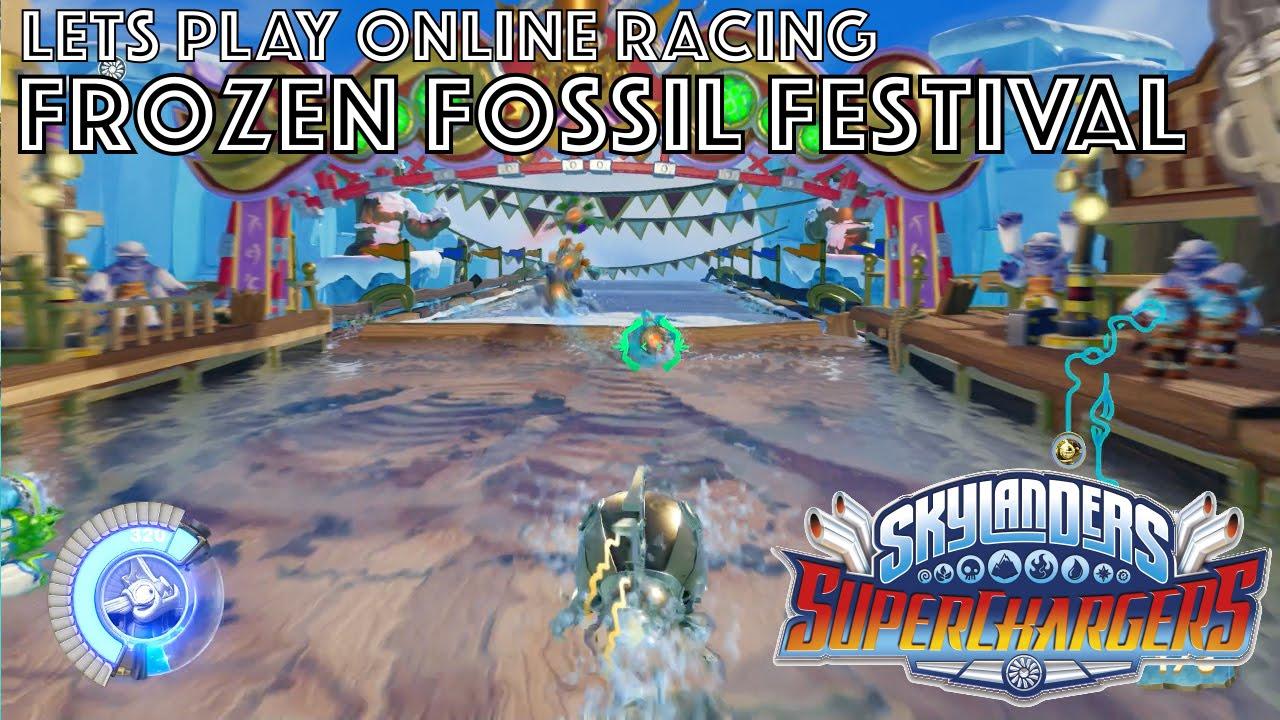 Let's Play Skylanders Kart Racing – Frozen Fossil Festival Game-Play