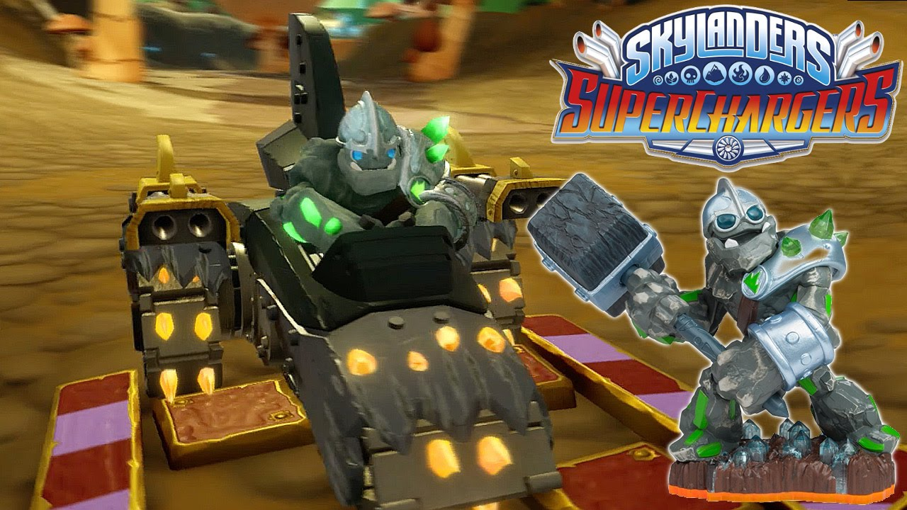 Skylanders Racing – Crusher in Shark Tank on Chompy Garden