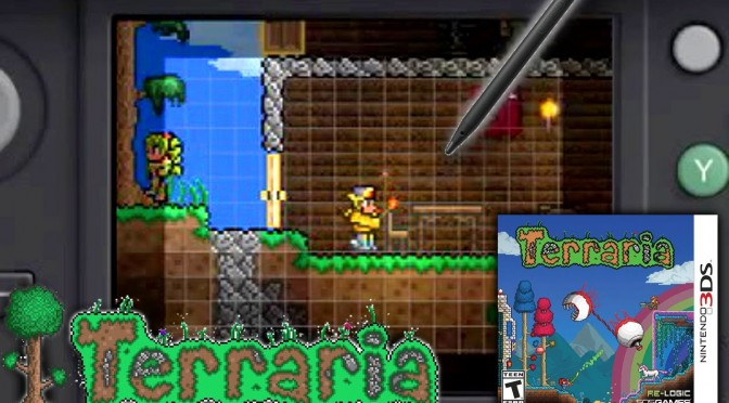 Terraria 3DS – 12 Minutes Game-Play [Direct Sound, Off Screen]