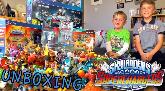 Skylanders Superchargers EPIC Starter Set Unbox (Wii, Wii U, PS4, Dark Edition)