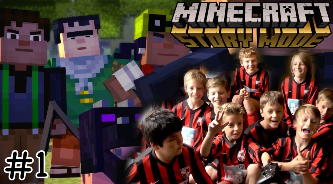 Football Team Plays Minecraft Story Mode Episode 1 #1