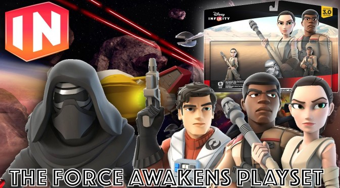"Disney Infinity ""The Force Awakens"" Kylo Ren, Poe Dameron, Play-Set & Figures"