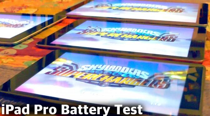 iPad Pro Battery Test vs iPad Air 2, iPad Mini, iPad 3
