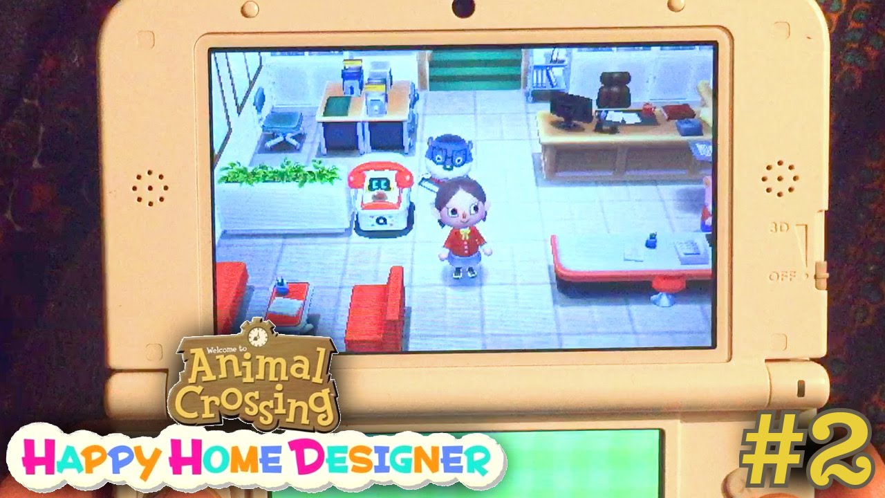 Sarah plays Animal Crossing Happy Home Designer Part 2 – School and Amiibo Cards