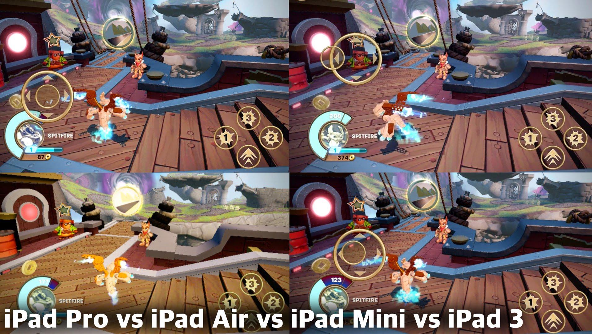 Skylanders iOS Comparison – iPad Pro vs iPad Air 2 vs iPad Mini 2 vs iPad 3