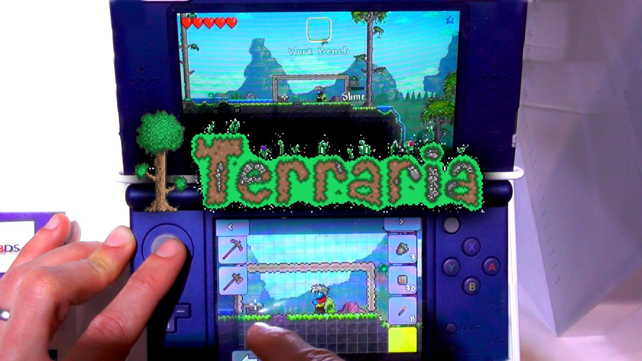 Terraria 3DS – New Build Game-Play (1.2 SVN: 10446)