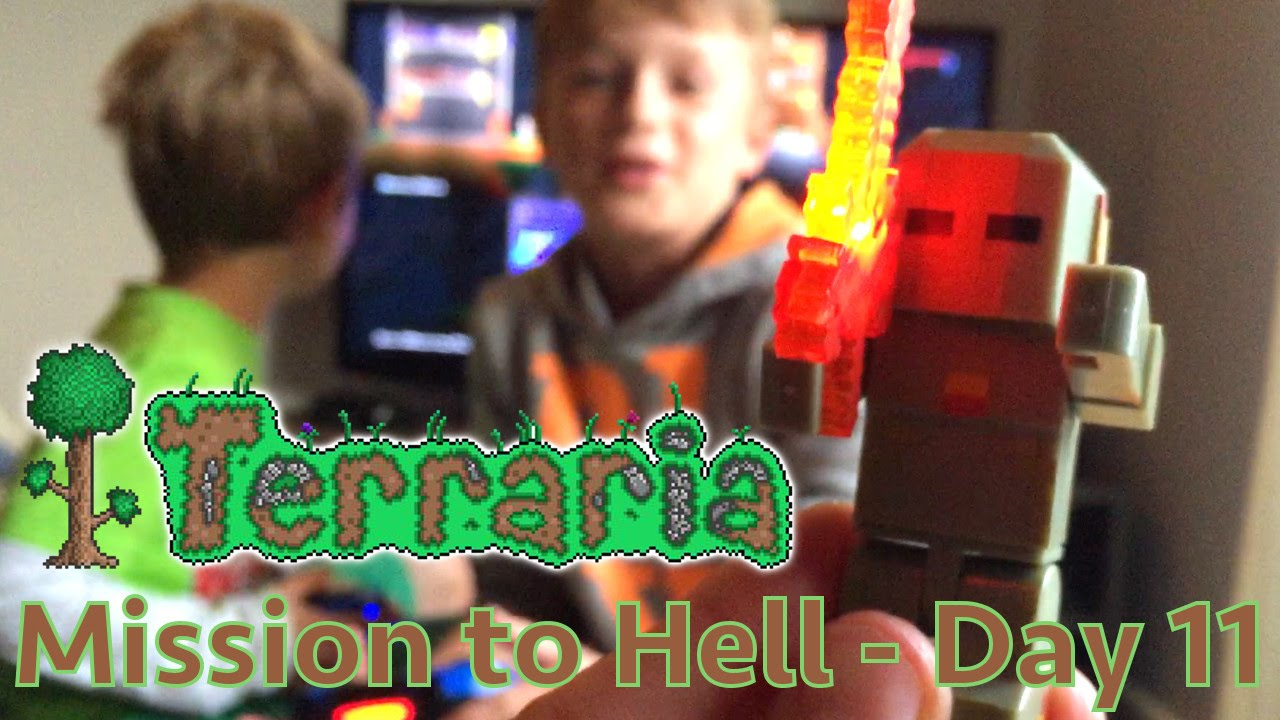 Terraria Part 11 – Crafting Armour and Weapons Fit For Hell