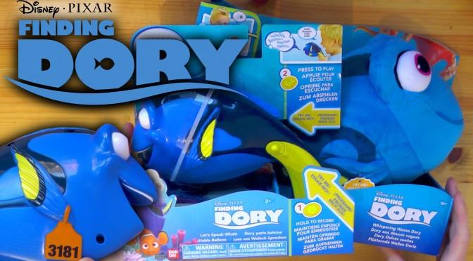 Finding Dory Toys – Whispering Waves Dory & Let's Speak Whale Dory (Disney / Bandai)