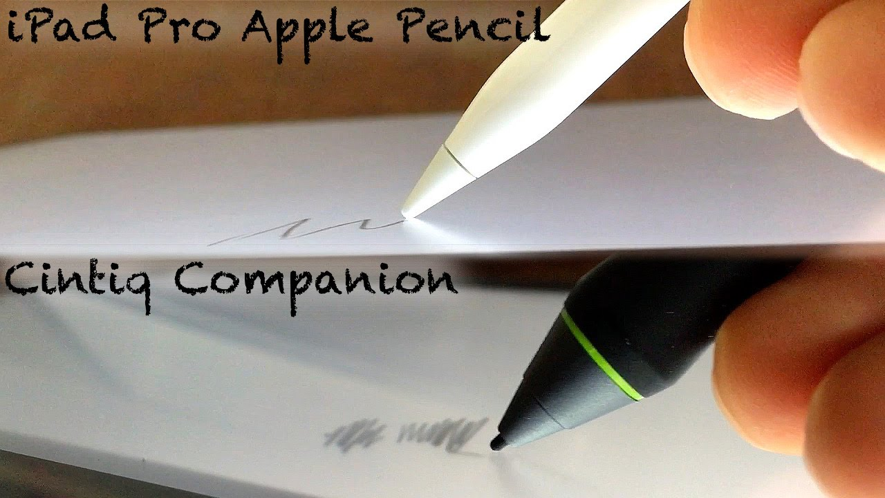 iPad Pro Pencil vs. Wacom Cintiq Companion