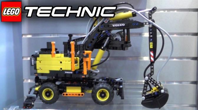 Lego Technic 2016 Tour w/ 422053 Volvo EW160E & Volvo L30G
