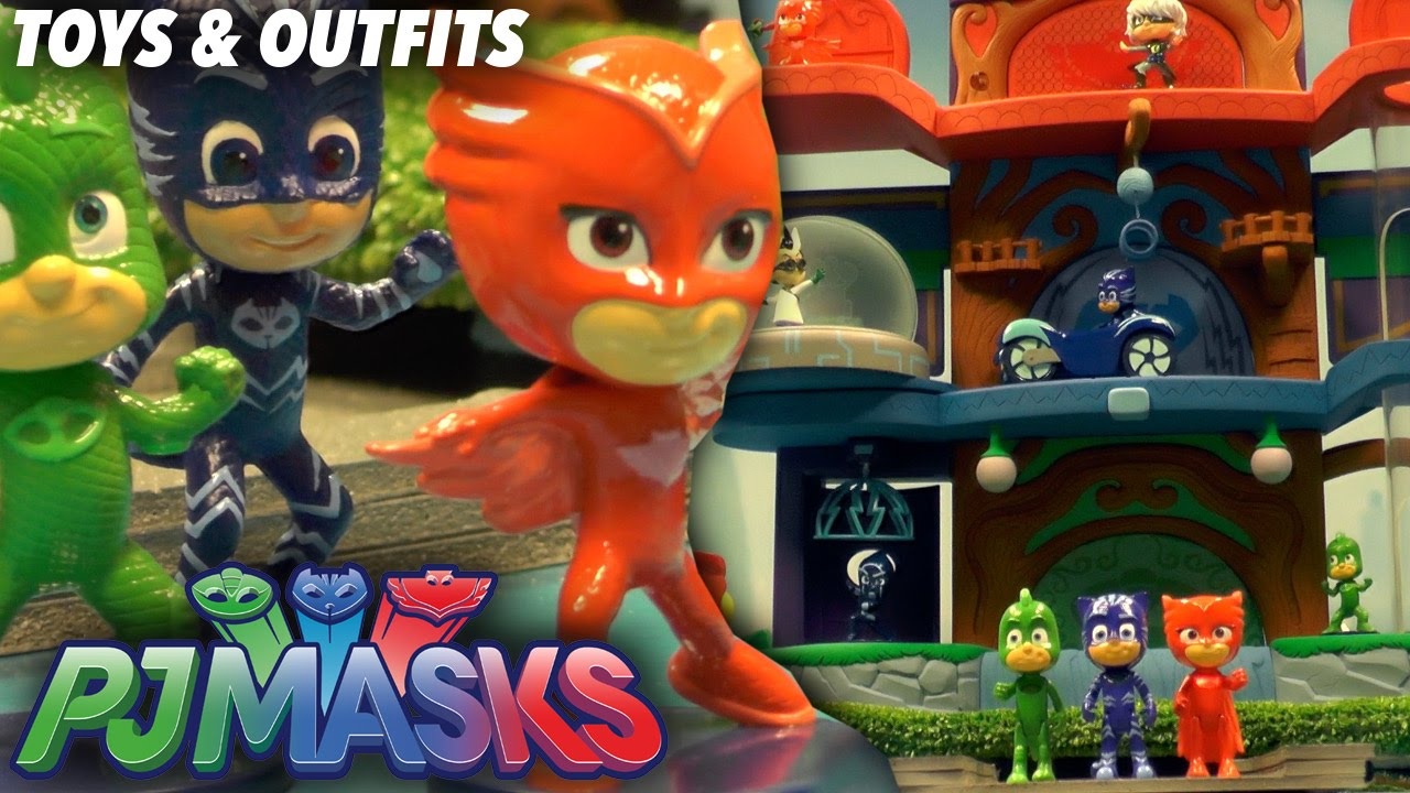 PJ Masks Toy Headquarters, Light-Up Figures and Outfits/Masks