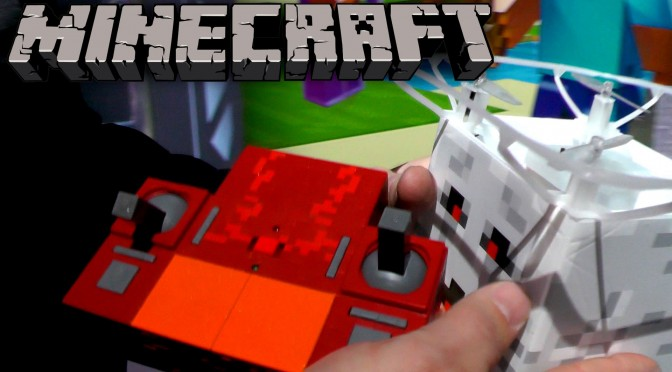Minecraft R/C Ghast Drone and 5″ Action Figure Playsets