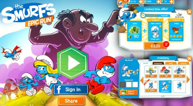 The Smurfs Epic Run – In App Purchases Coin vs Gem Value
