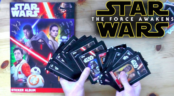 TOPPS Star Wars The Force Awakens Sticker Opening – Part 2