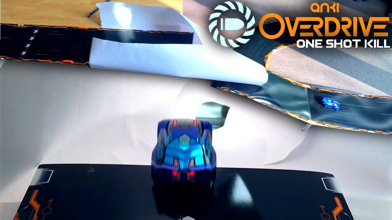 "Anki Overdrive ""One Shot Kill"" Race on Paper-Funnel-Jump (Ground Shock vs Nuke vs Guardian)"