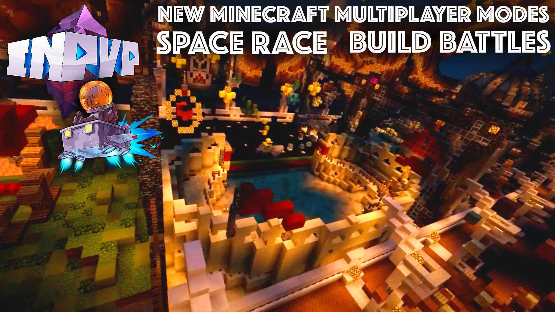 "New Minecraft PE Multiplayer Modes ""Space Race"" and ""Block Hunt"" [InPVP Nova]"