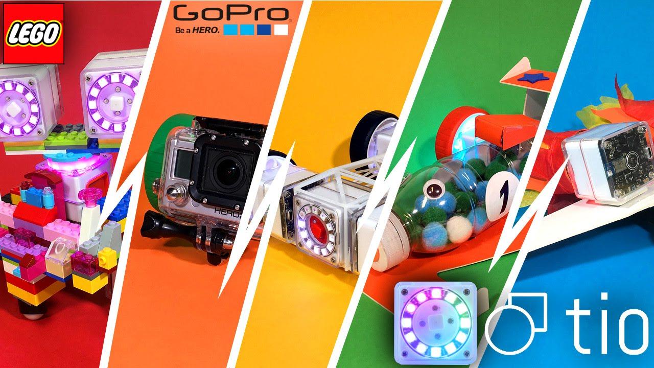 Tio – Robotic Blocks brings Toys to Life – Lego, Megabloks & GoPro