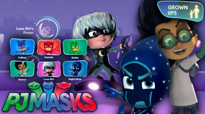 NEW! PJ Masks Luna Girl, Romeo & Night Ninja Website (and Parent Zone)