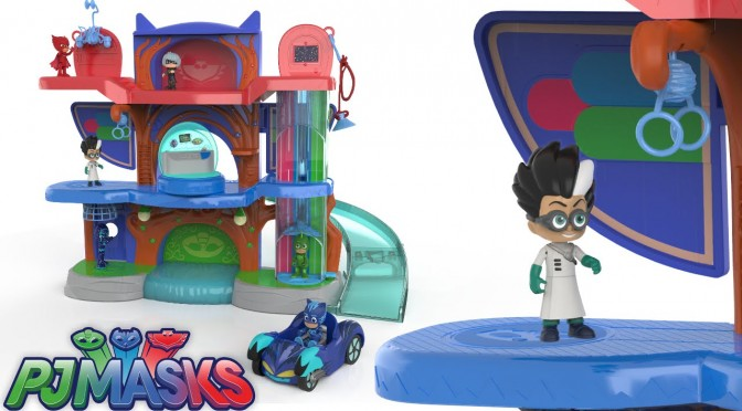 PJ Masks – HQ Headquarters Playset & All Action Figures