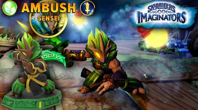 "Skylanders Imaginators ""Ambush"" Sensei w/ Bonus New Level Footage"