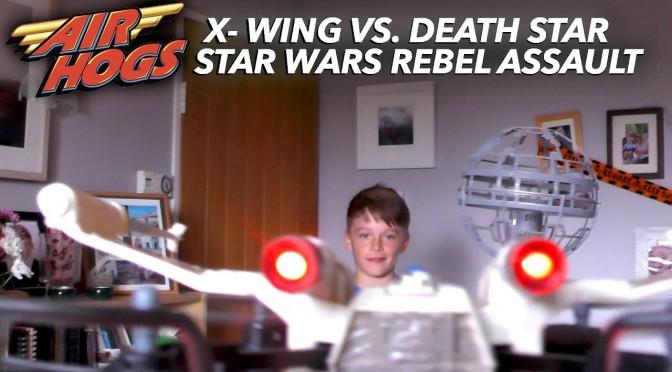 Star Wars X-Wing vs Death Star Drone Battle (Air Hogs)