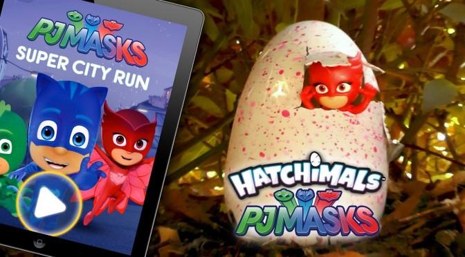 "PJ Masks Hatchimals ❤️ NEW ❤️ ""Super City Run"" Game Surprise"