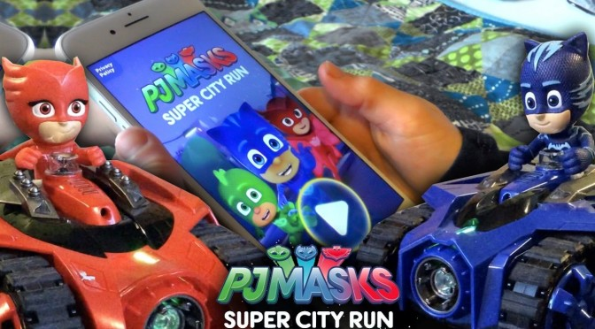 "Let's Play PJ Masks ""Super City Run"" 🕹 and 💀 Tank Maze"