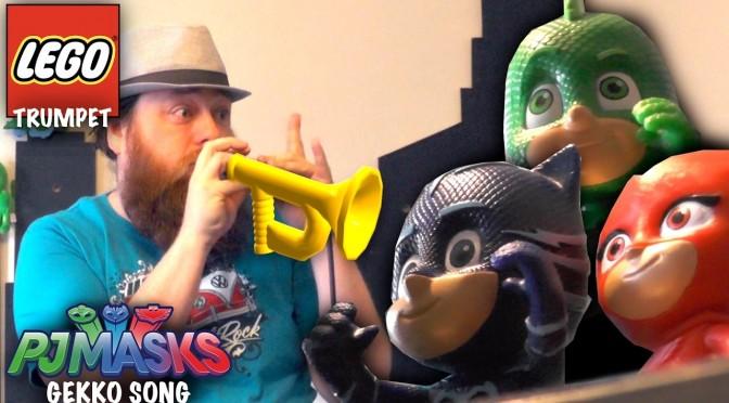 PJ Masks Gekko LEGO Trumpet Song