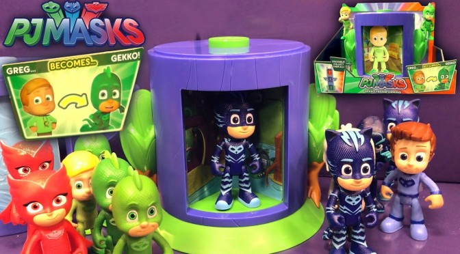 PJ Masks Toy Transforming Counting Challenge