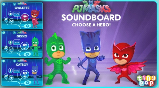 PJ Masks NEW iPad Game – Soundboard Challenge