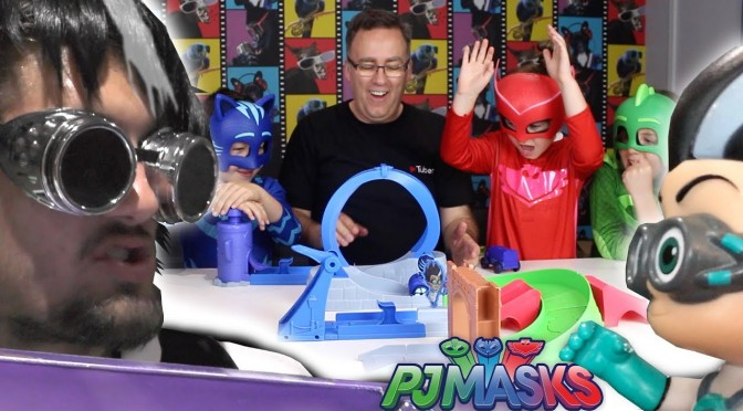 PJ Masks Romeo Hides in Bag to Steal Toys