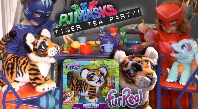 Roarin' Tyler Surprise PJ Masks Tiger Tea Party