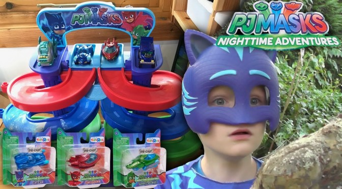PJ Masks Nighttime Adventures NEW Spiral Die-Cast Toys