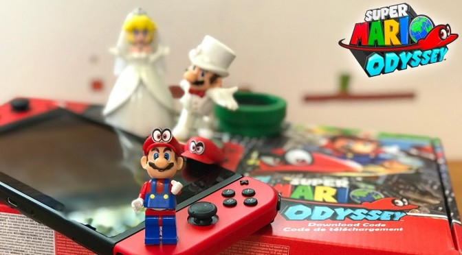 Mario Odyssey Switch Unboxing w/ Lego Mario