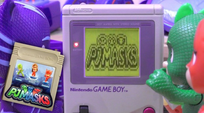 PJ Masks Catboy Finds Retro PJ Masks Nintendo Gameboy Game