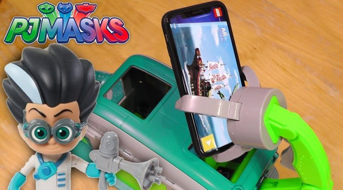 PJ Masks Romeo Grabs Fire Station Dinosaur Trap