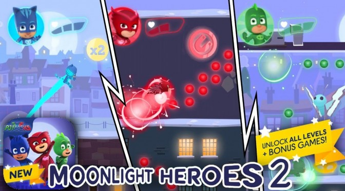 PJ Masks NEW! Moonlight Heroes 2 (Disney iPad Game)